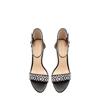 WIDE - HEEL SANDAL WITH ANKLE STRAP - Shoes - Woman - New collection | ZARA United States