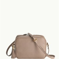 Stone Madison Crossbody | Pebble Grain Leather | GiGi New York