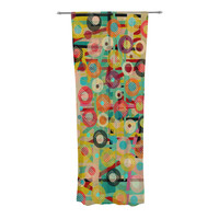 """Bri Buckley """"Gift Wrapped"""" Crazy Abstract Decorative Sheer Curtain"""
