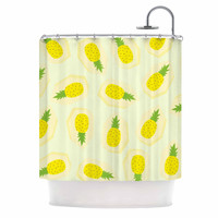 "Strawberringo ""Pineapple Pattern"" Yellow Fruit Shower Curtain"