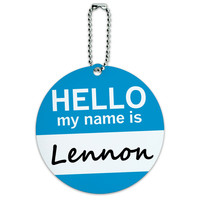 Lennon Hello My Name Is Round ID Card Luggage Tag