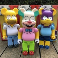 400% Original Fake Gloomy Bear Bear@Brick Batman Krusty The Clown The Simpsons Baseman Toby PVC Action Figure Toy L1778