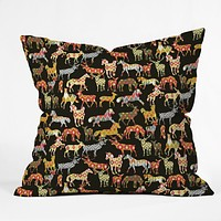 Sharon Turner Deer Horse Ikat Party Outdoor Throw Pillow