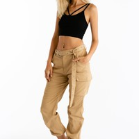 We Should Hangout Cargo Pants in Khaki