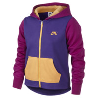 Nike SB Color-Block Full-Zip Girls' Hoodie