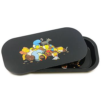 Metal Rolling Tray w/ Magnetic Lid - Couch Family
