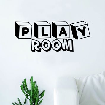 Play Room Decal Sticker Wall Vinyl Art Home Decor Teen Quote Inspirational Nursery Kids Children School