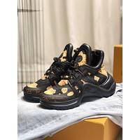 LV Louis Vuitton Men's Leather Archlight Sneakers Shoes