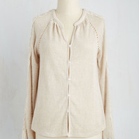 Mid-length Long Sleeve Laid-back and Lovely Top