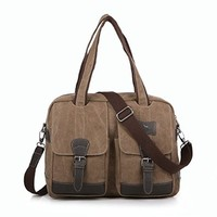 Vere Gloria Mens Business Casual Canvas Messenger Bag Large Capacity Laptop Handbag Everyday Commuting Working Briefcase Bags