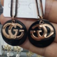 GUCCI Double G Exaggerated Fashion Wild Glossy Earrings