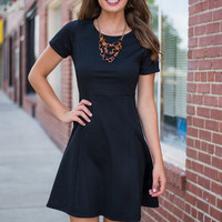 Got You On My Mind Dress, Black