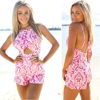 Summer Hot Sale Stylish Backless Dress Romper [6315481601]