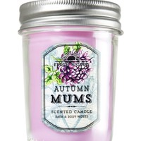 Mason Jar Candle Autumn Mums