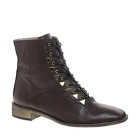 New Kid Penny Dreamcore Stud Burgundy Lace Up Boots -