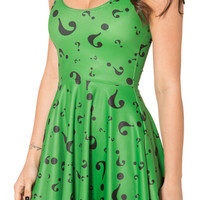 THE RIDDLER SKATER Dress S-4XL