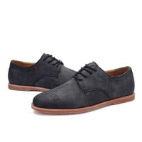Permeable Fashion England Style Flat Stylish Korean Men's Shoes = 6450778499