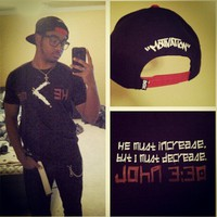"S/O @misfitx116 in the ""HE Must Increase, bu i must ... - crossstitchapparel @ Instagram Web Interface - 5th village"