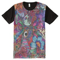 Psychedelic Paradise - Hand-drawn design All-Over Print T-shirt