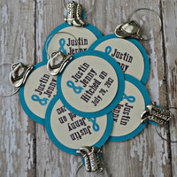 Wedding Wine Charm Favors Country Western Style Boots Cowboy Hat