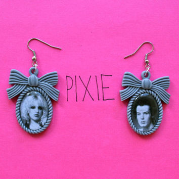 Sid Vicious and Nancy Spungen cameo earrings Sex Pistols