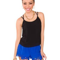 Swish Lace Shorts - Blue