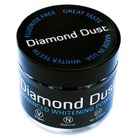 Activated Charcoal Tooth Whitening Powder by Diamond Dust, Fluoride Free, Organic Botanicals, Natural, 5 Month Supply