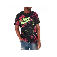 Nike Men's Pink Limeade T-Shirt Black