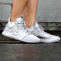 NIKE PG 3 NASA Trending Men Leisure Running Sport Shoes Basketball Sneakers Silvery