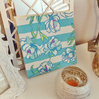 Lilly Pulitzer Tossing The Line Painted Canvas
