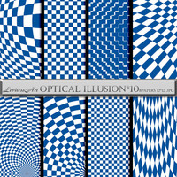 "Navy blue and white geometric digital paper:""Optical illusion*10"" for scrapbooking,invites,cards,web design,Digital Collage,Instant Download"