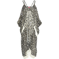 River Island Womens Black geometric print cocoon maxi dress