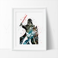 Darth Vader Watercolor Art Print