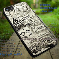 Collage Line Art | Harry Potter | Deathly Hallows iPhone 6s 6 6s+ 6plus Cases Samsung Galaxy s5 s6 Edge+ NOTE 5 4 3 #movie #HarryPotter ii