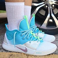 NIKE PG 3 NASA Fashionable Men Casual Sport Shoes Basketball Sneakers White&Blue