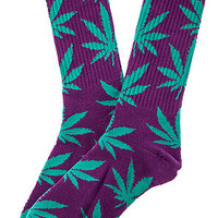 The Plantlife Socks in Purple and Turqouise