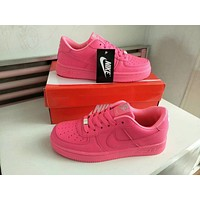 Nike Air Force 1 Women Sport Casual Candy Colors Low Help Plate Shoes Solid Color Sneakers