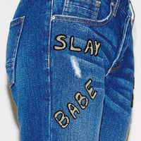 Kendall & Kylie Beaded Ripped Boyfriend Jeans at PacSun.com