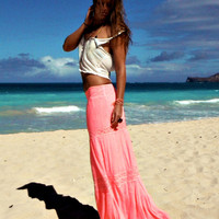 Rosemary maxi skirt in neon pink