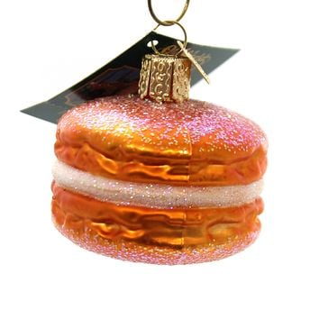 Old World Christmas Macaron Ornament French Pastry - 32242 ORANGE