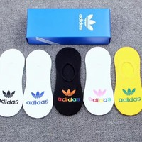 5PCS ADIDAS Breathable Cotton Sport Socks