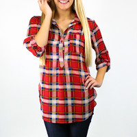 Mad for Plaid Blouse