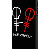 Twenty One Pilots Blurry Face iPhone 5 Case Hardplastic Frame Black Fit For iPhone 5 and iPhone 5s