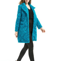 Plus Size 6XL New Winter Women Warm Natural Faux Fur Coat Luxury Blue Faux Fur Long Coat Outerwear Lady Flower Thick Overcoat = 1958553924