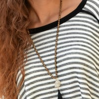 A FAITHFUL BELIEVER NECKLACE - BROWN