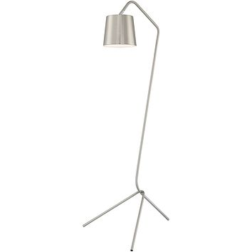 """59""""H Quana 1-Light Arched Tripod Floor Lamp Brushed Nickel"""
