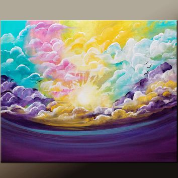 Abstract Art Print Contemporary Abstract Art by Destiny Womack - On a Cloudy Day - dWo