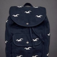 Hot! HOLLISTER HCO by A&F Classic Navy Icon Seagulls BACK PACK BOOK BAG Backpack