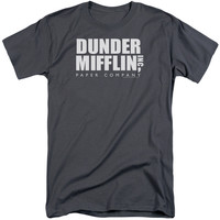 THE OFFICE/DUNDER MIFFLIN-S/S ADULT TALL-CHARCOAL