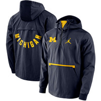 Michigan Wolverines Jordan Brand Packable Woven Jacket - Navy